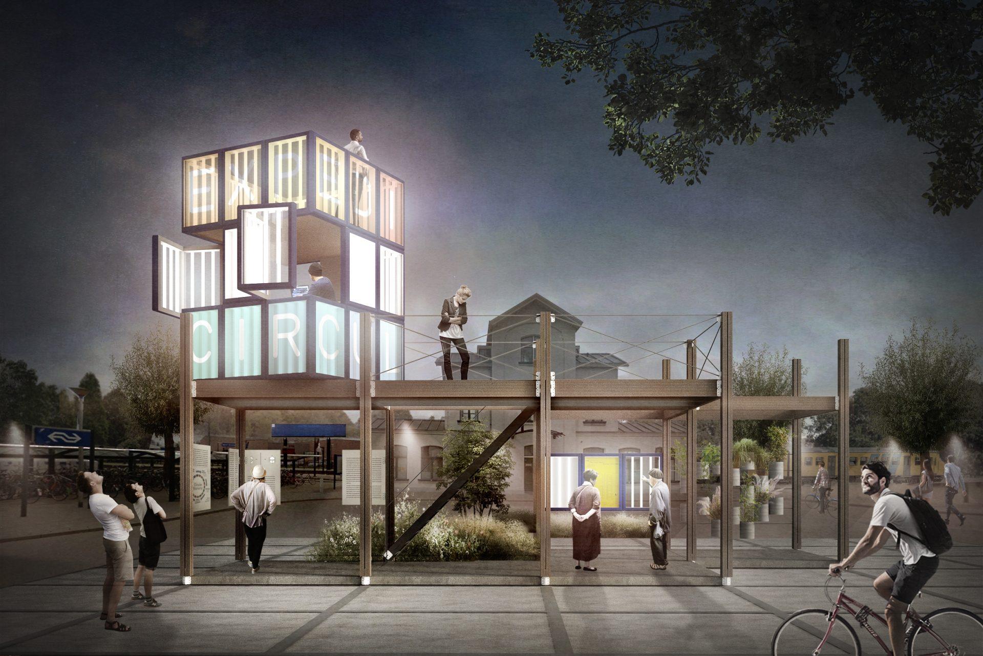 Reizend, circulair en modulair paviljoen